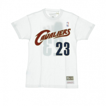 MAGLIETTA NAME  NUMBER TRADITIONAL TEE NO23 LEBRON JAMES CLECAV ORIGINAL TEAM COLORS