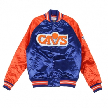 GIUBBOTTO BOMBER TOUGH SEASON SATIN JACKET CLECAV ORIGINAL TEAM COLORS