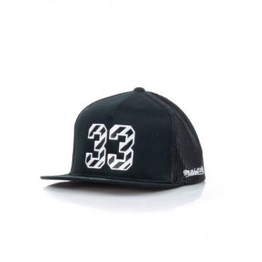 CAPPELLO SNAPBACK HWC NAME  NUMBER 110 SNAPBACK SCOTTIE PIPPEN NO33 CHIBUL BLACK/WHITE