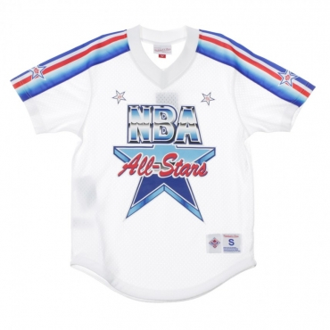 CASACCA NBA MESH V-NECK TEAM DNA SUBLIMATION ALL STAR GAME 1991 WHITE