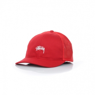 CAPPELLO SNAPBACK STOCK LOW PRO TRUCKER CAP RED