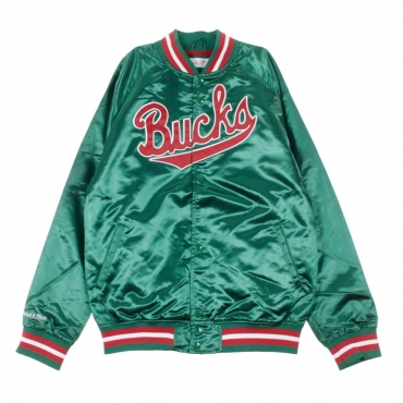 GIUBBOTTO BOMBER NBA LIGHTWEIGHT SATIN JACKET MILBUC ORIGINAL TEAM COLORS