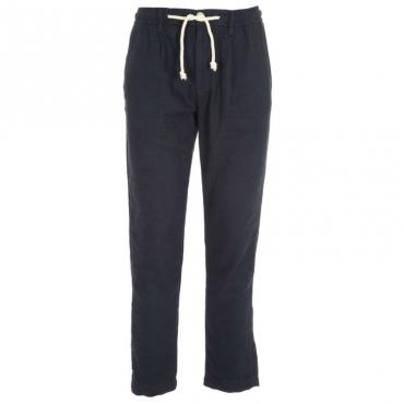 Pantalone in misto lino BLU