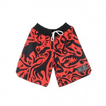 PANTALONE CORTO BASKET SHORT REVERSIBLE BLACK/RED