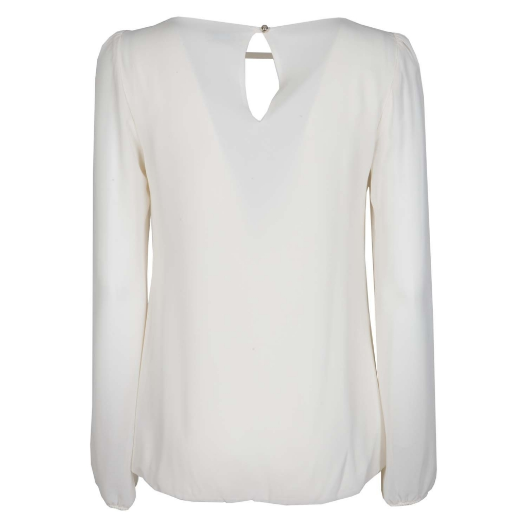 Blouse with long sleeves 10105WHITEMI