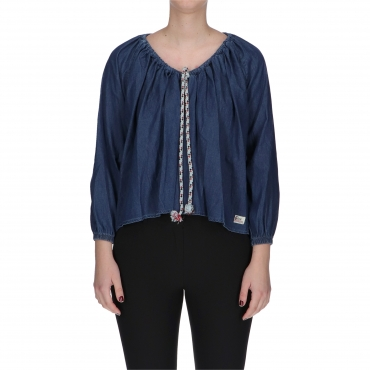 BLUSA ROPE DENIM SW W ROY ROGERS