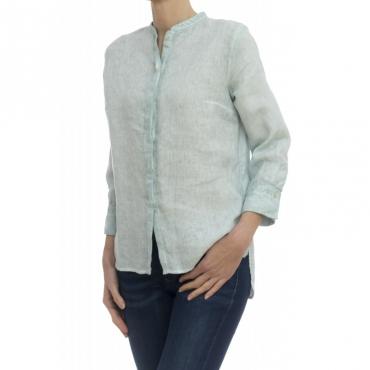 Camicia donna - 1103/03f camicia lino lavata freddo Tahiti