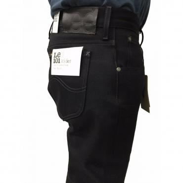 LEE 101 jeans uomo mod RIDER nero cimosato L9665941 100 cotone con zip