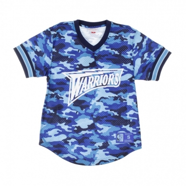CASACCA NBA CAMO MESH V-NECK TEAM COLOUR GOLWAR CAMO BLUE