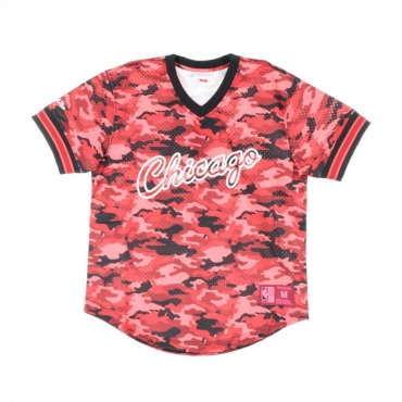 CASACCA NBA CAMO MESH V-NECK TEAM COLOUR CHIBUL CAMO RED