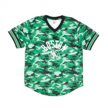 CASACCA NBA CAMO MESH V-NECK TEAM COLOUR BOSCEL CAMO GREEN