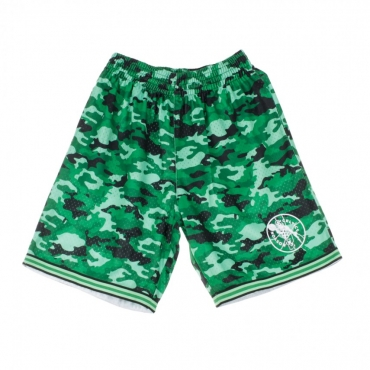 PANTALONCINO TIPO BASKET NBA CAMO MESH TEAM COLOUR SHORT BOSCEL CAMO GREEN