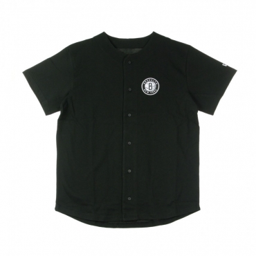 CASACCA BOTTONI NBA LOGO BUTTON UP BRONET BLACK