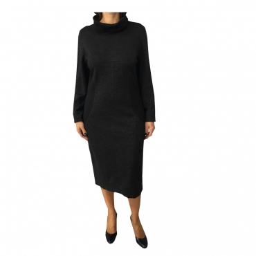 ELENA MIR abito donna grigio/nero 91 lana 5 ramie 4 poliammidica
