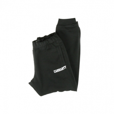 PANTALONE LUNGO COLLEGE SWEAT PANT BLACK/WHITE