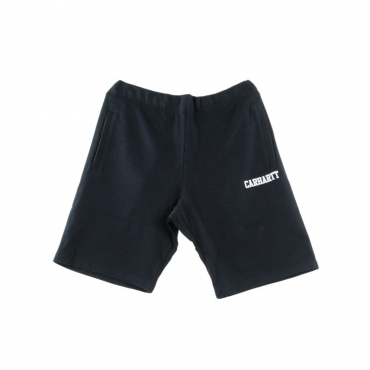 PANTALONE CORTO TUTA COLLEGE SWEAT SHORT DARK NAVY/WHITE
