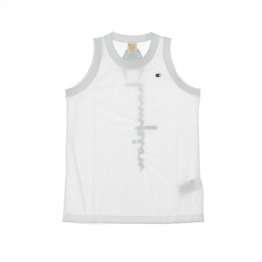 CANOTTA TIPO BASKET TANK TOP WHITE