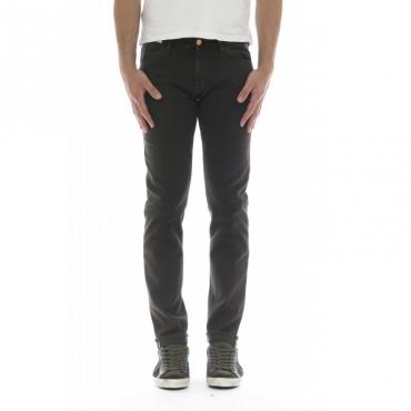 Pantalone uomo - Swing sd11 super slim 5 tasche supersoft strech drill 0180 - Marrone