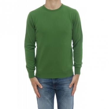 Maglia uomo - 800/01/09 maglia giro 100 merinos toppa in maglia 28 - verde