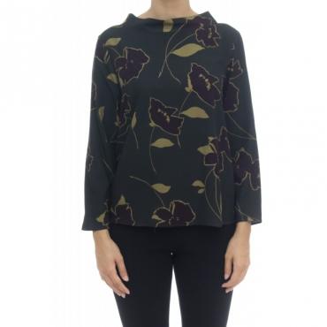 Camicia donna - 1303 55537 stampa viscosa 003