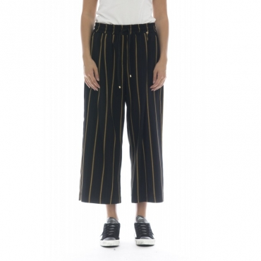 Pantalone donna - Giji pantalone rigato largo F0032
