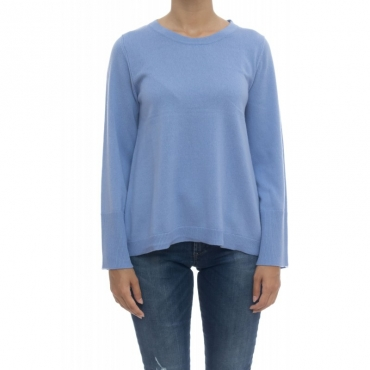 Maglieria - 8510/01 magli girocollo 118 - Azzurro