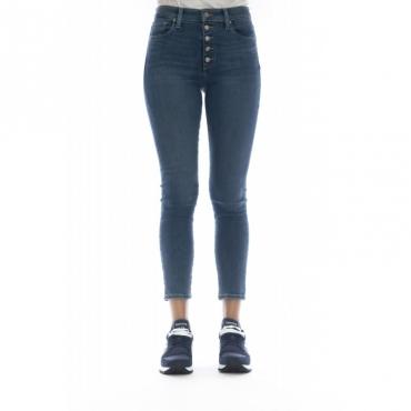 Jeans - 5734 charlie crop nessa jeans bottoni a vista