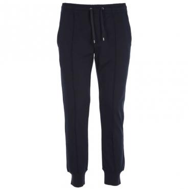 Pantaloni jogger con pinces BLU NAVY