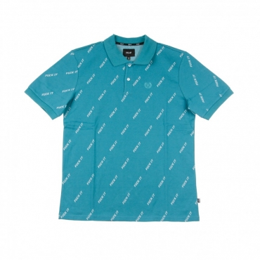 POLO MANICA CORTA FUCK IT POLO BISCAY BAY TEAL