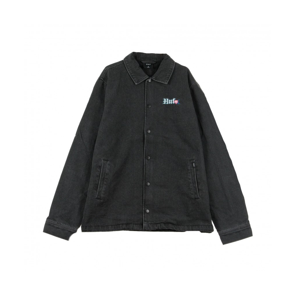 GIACCA COACH JACKET YUCATAN DENIM COACHIES BLACK
