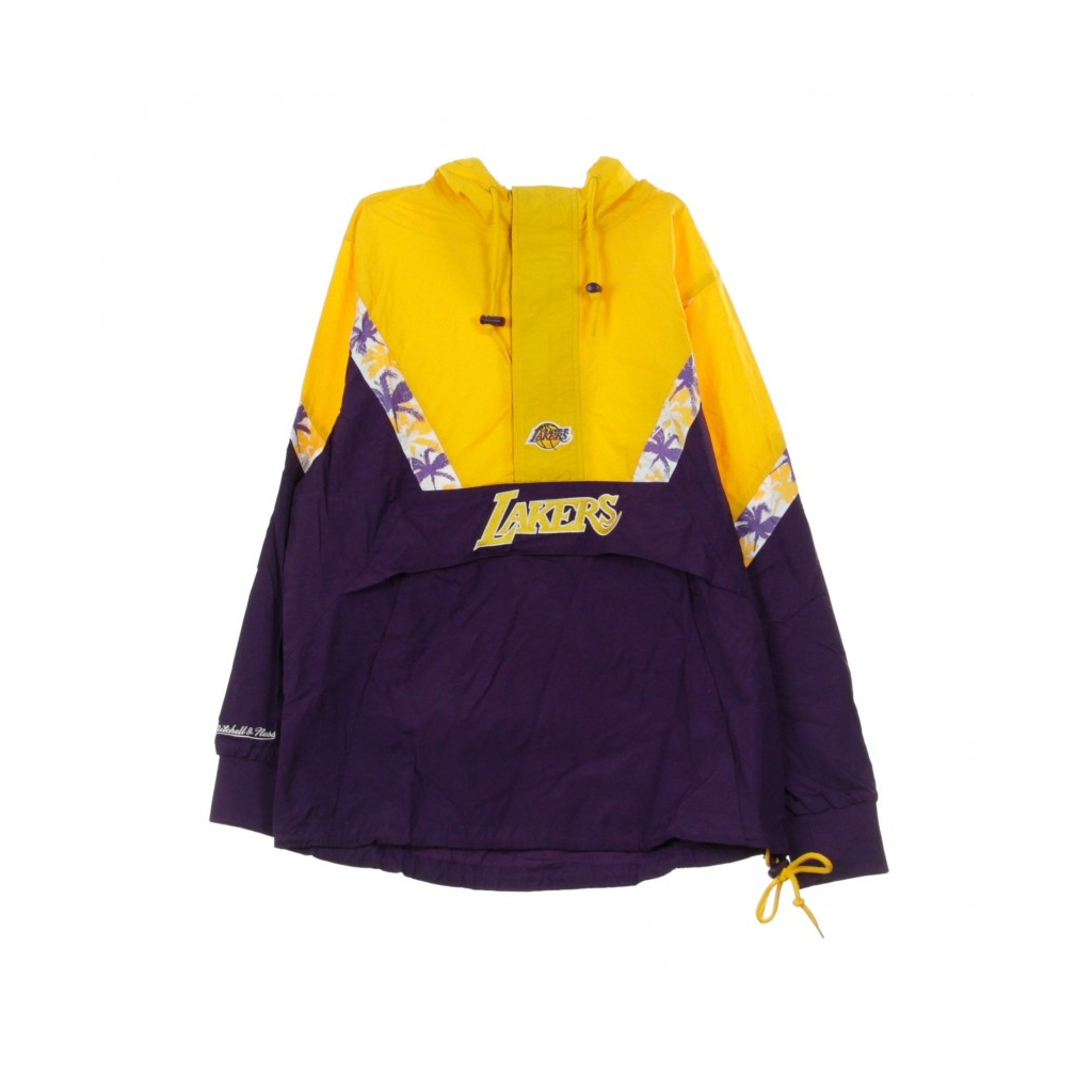 GIACCA A VENTO ANORAK NBA HALF ZIP TEAM COLOUR LOSLAK ORIGINAL TEAM COLORS