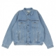 GIUBBOTTO JEANS WESTERN JACKET BLUE STONE BLEACHED