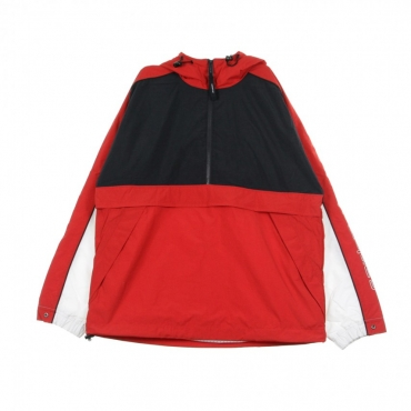 GIACCA A VENTO ANORAK TERRACE PULLOVER DARK NAVY/CARDINAL/WHITE