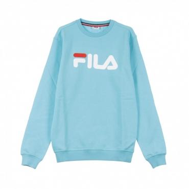 FELPA GIROCOLLO PURE CREW SWEAT BLUE CURACAO