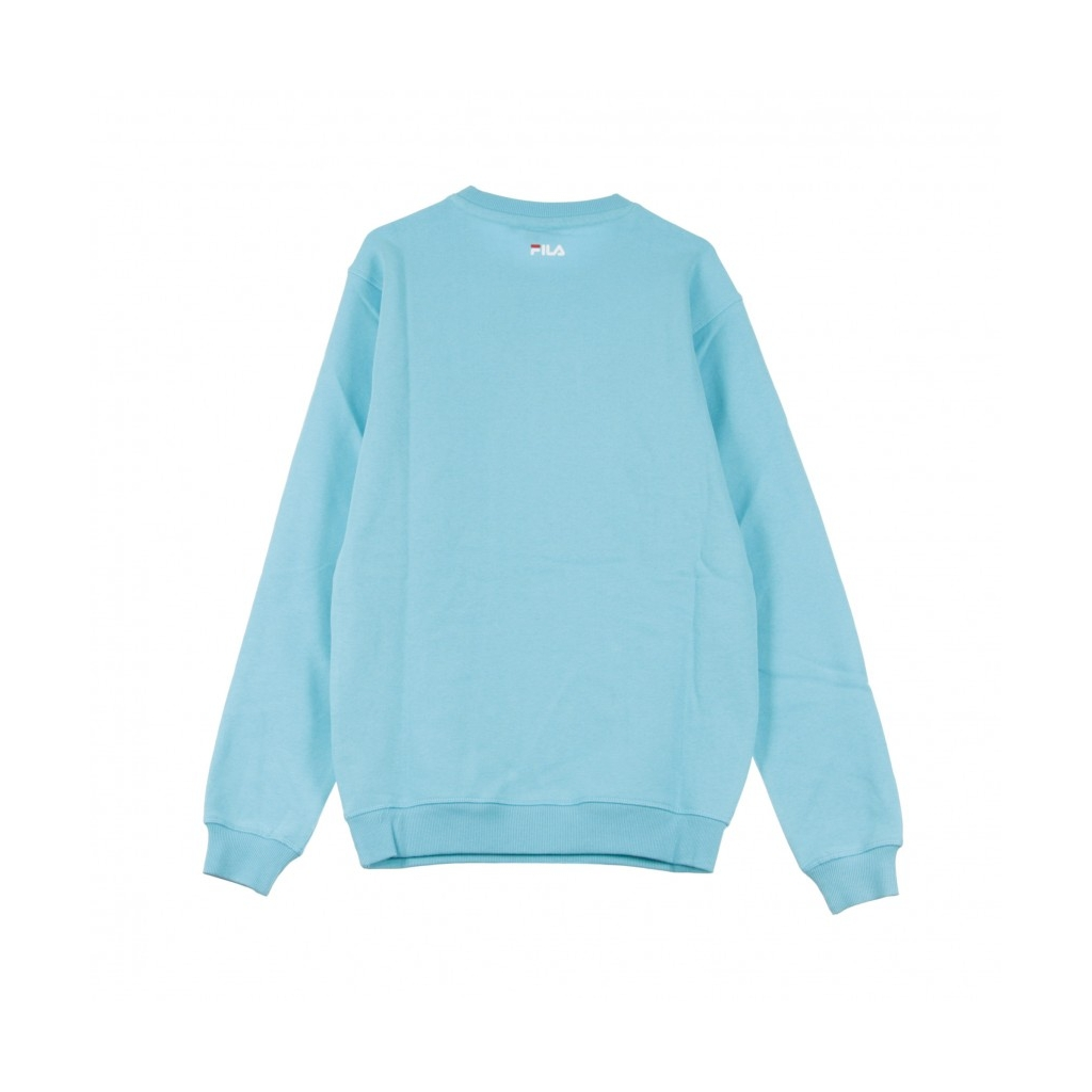 FELPA GIROCOLLO PURE CREW SWEAT BLUE CURACAO