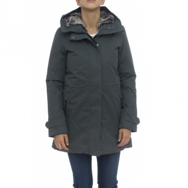 Piumino - D4033w twon9 cappotto twill effetto lana melange 670 - Charcoal Grey
