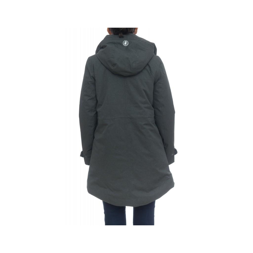 Piumino - D4033w twon9 cappotto twill effetto lana melange 670 - Charcoal Grey