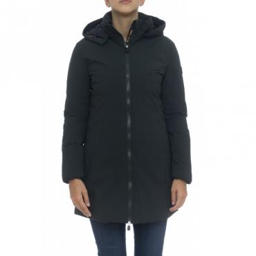 Piumino - D4006w matt9 cappottino liscio capp staccabile 1178 - Green Black