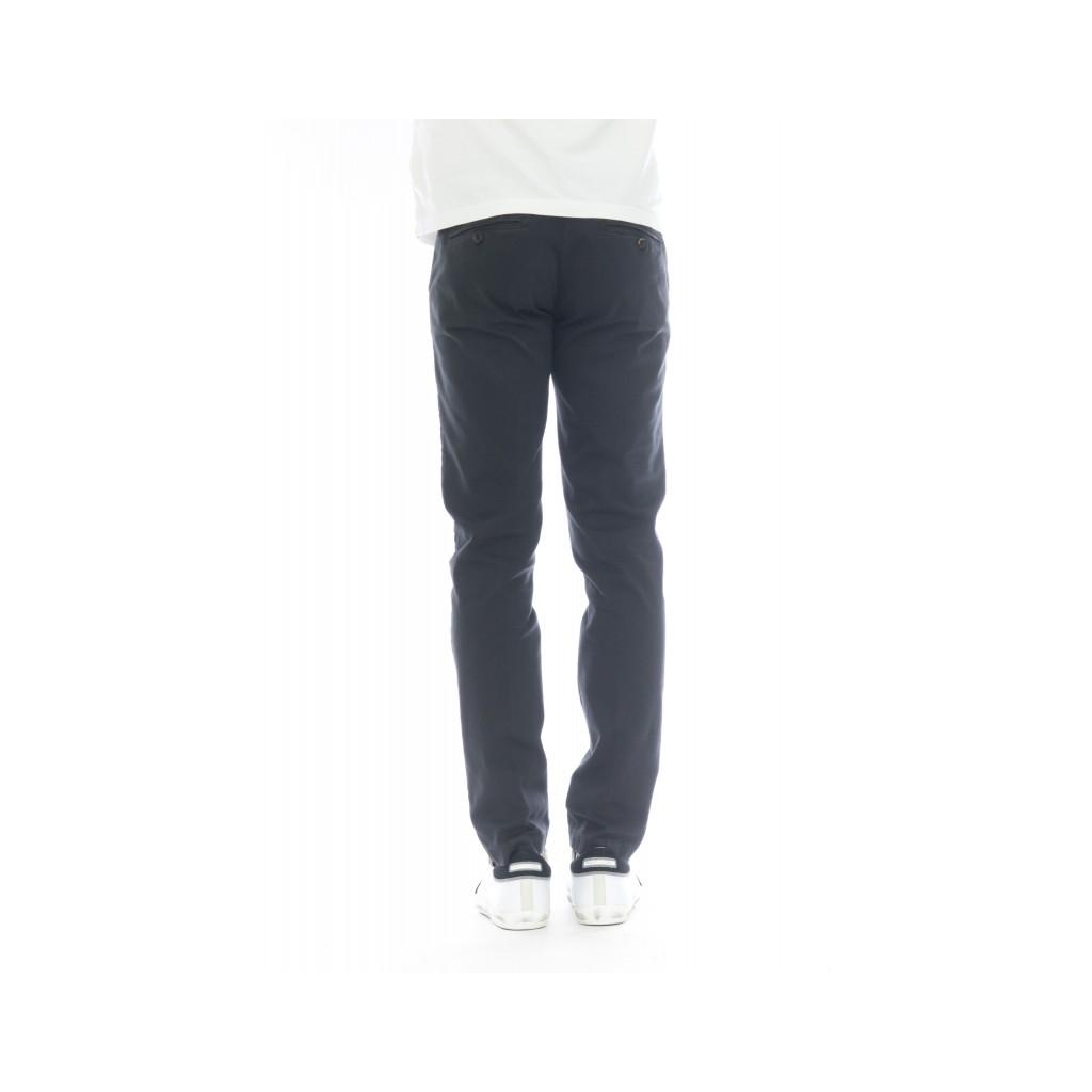 Pantalone uomo - 08l 05 gabardina strech slim lavata 34 - antracite