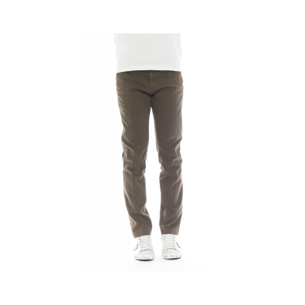 Pantalone uomo - 08l 05 gabardina strech slim lavata 45 - Nocciola