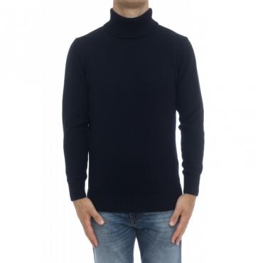 Maglia uomo - 8104/05 maglia collo alto 100 merinos 41 - BLU SCURO