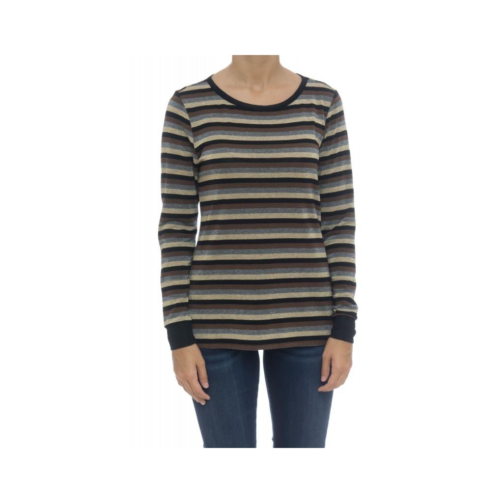 T-shirt donna - Moida t-shirt rigata lurex F3053