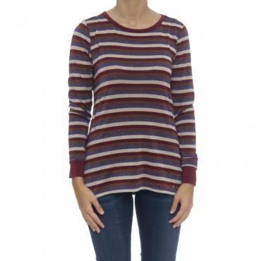 T-shirt donna - Moida t-shirt rigata lurex F8013
