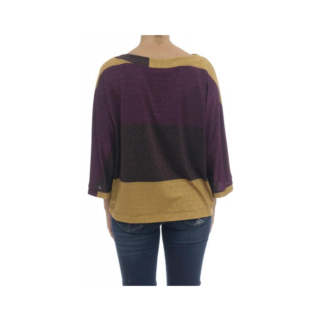 T-shirt donna - Kasai t-shirt rigata F0032