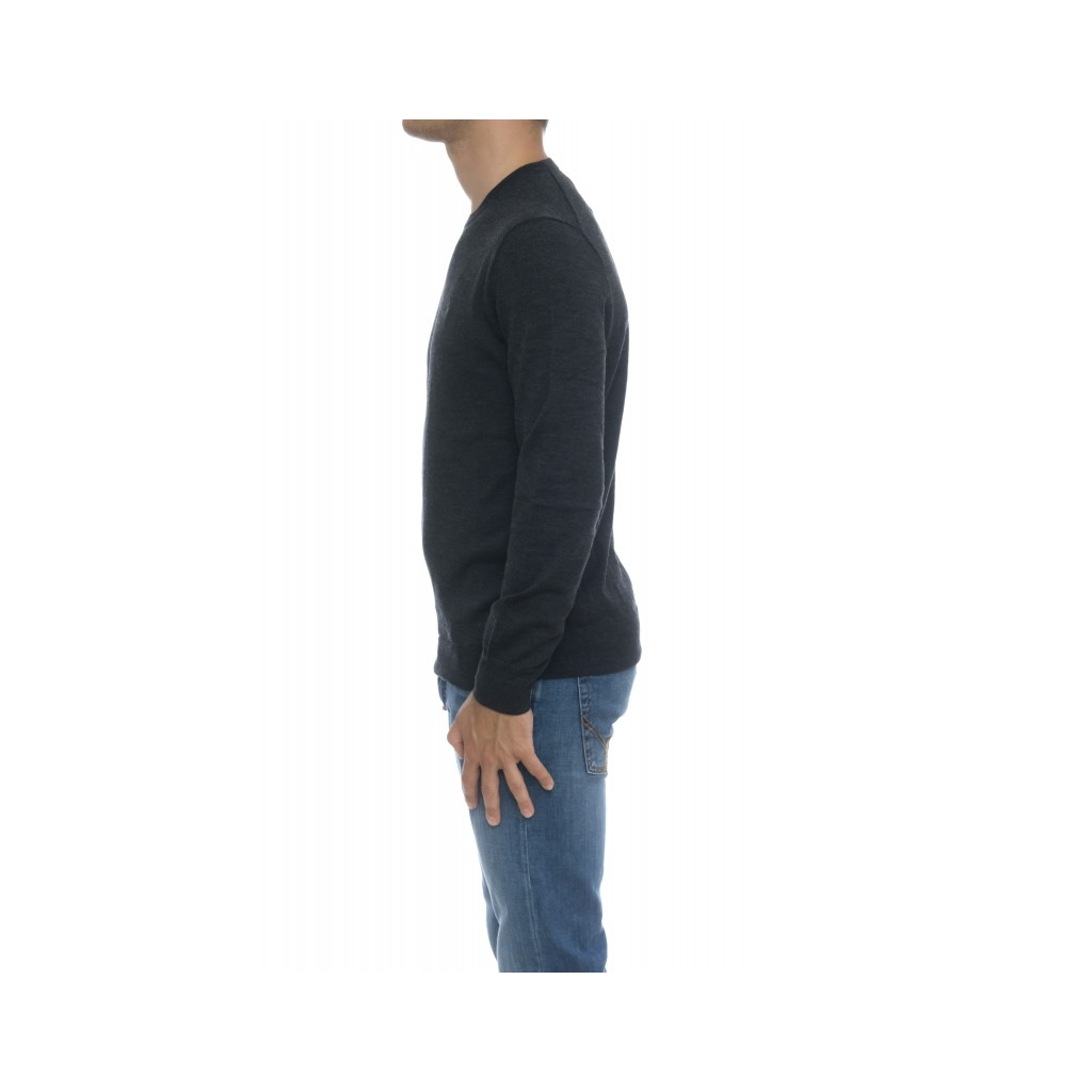 Maglia uomo - 714346 maglia giro merinos 008 - Antracite