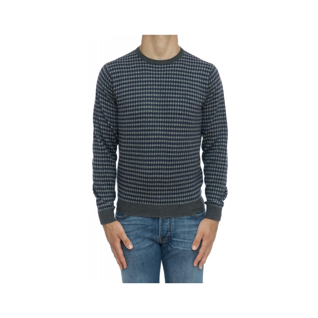 Maglia uomo - K29132 maglia jaquard 4706 - Gessato grigio