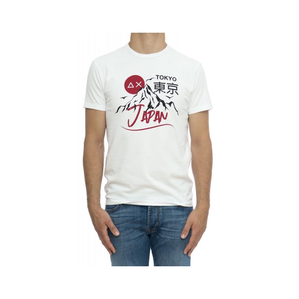 T-shirt uomo - T29120 t-shirt stampa 0110 - Bianco