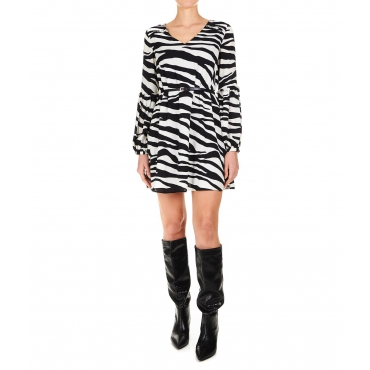 Mini abito con stampa animalier Black