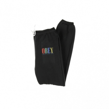 PANTALONE LUNGO TUTA CHESS KING SWEATPANTS BLACK