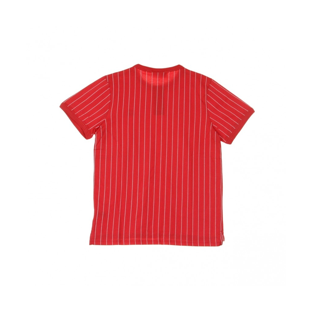 MAGLIETTA GUILO STRIPED TEE CHINESE RED